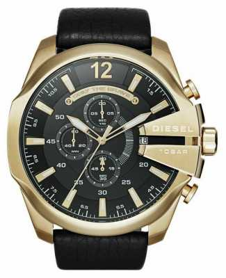 Diesel Men's Mega Chief Gold Tone Chronograph Watch DZ4344