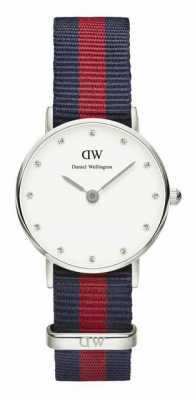 Daniel Wellington Womens Classy Oxford 26mm Silver Red Blue DW00100072