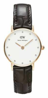 Daniel Wellington Womens Classy York 26mm Rose Gold Black Strap DW00100061