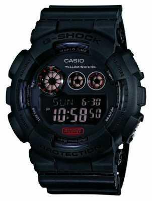 Casio Mens G-Shock Matt Black Resin Strap GD-120MB-1ER