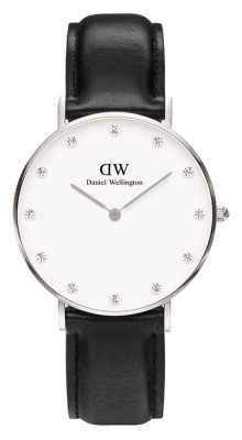 Daniel Wellington Womens Classy Sheffield 34mm Silver Black DW00100080