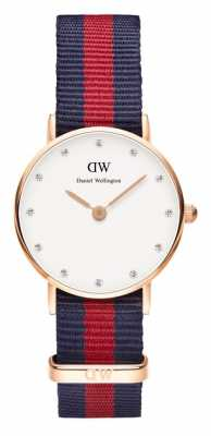 Daniel Wellington Womens Classy Oxford 26mm Rose Gold Blue Red DW00100064