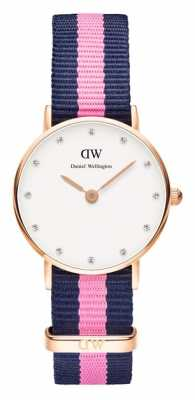 Daniel Wellington Womens Classy Winchester 26mm Rose Gold Blue DW00100065