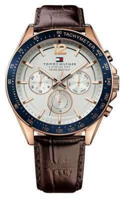Tommy Hilfiger Gent's Baron Rose Tone Watch 1791118