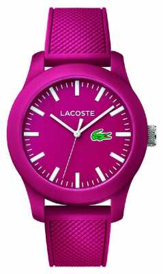 Lacoste Unisex 12.12 pink silicone strap pink dial 2010793