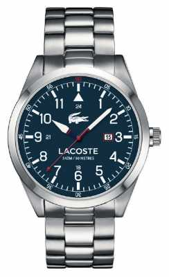 Lacoste Mens Montreal Stainless Steel Bracelet Blue Dial 2010783