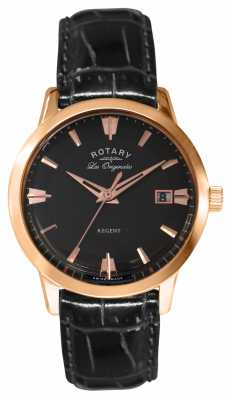Rotary Mens Black Leather Regent Les Originales GS90116/04