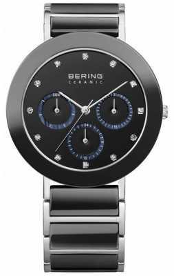 Bering Womens Black Ceramic/ Steel, Crystal Watch 11438-742