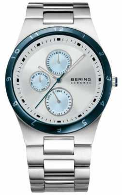 Bering Mens Stainless Steel White And Blue Dial 32339-707
