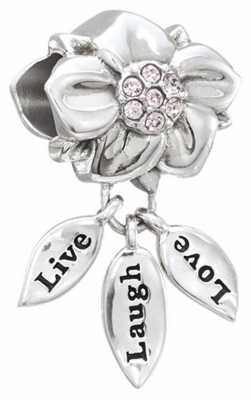 Chamilia Live, Laugh, Love - Sterling Silver with Light Amethyst Swarovski Crystal 2025-1418