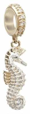 Chamilia Seahorse - Sterling Silver and 14K Gold with Swarovski Zirconia 2230-0020