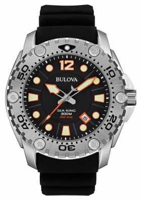 Bulova Mens Sea King Black Rubber Strap 96B228
