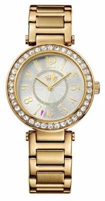 Juicy Couture Womens Luxe, Gold, Crystal Watch 1901151