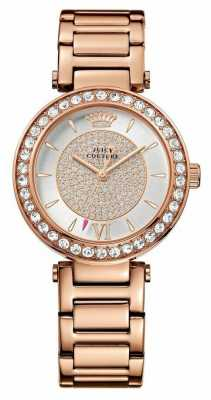 Juicy Couture Womens Luxe, Rose Gold, Crystal Watch 1901152