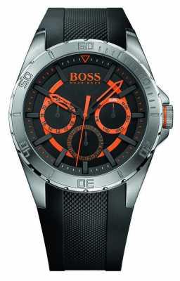Hugo Boss Orange Mens Stainless Steel, Black Rubber Strap 1513203