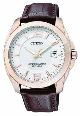 Citizen Mens Brown Leather Strap Perpetual Calendar BL1243-00A