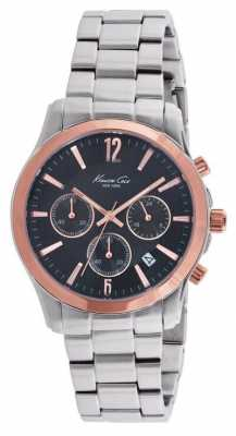 Kenneth Cole Mens Stainless Steel Black Dial KC10021829