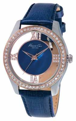 Kenneth Cole Womens Blue Leather Strap Blue Dial KC2871