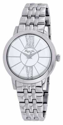 Kenneth Cole Womens Stainless Steel White Dial KC10020849