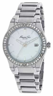 Kenneth Cole Womens Stainless Steel White Dial KC10022787