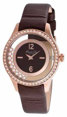 Kenneth Cole Womens Brown Leather Strap Brown Dial KC2882