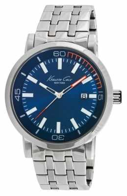 Kenneth Cole Mens Stainless Steel Blue Dial KC10020837