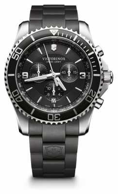 Victorinox Swiss Army Mens Maverick Chronograph Black Rubber Strap 241696