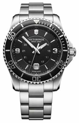 Victorinox Swiss Army Mens Maverick Black Dial Stainless Steel 241697