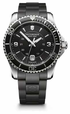 Victorinox Swiss Army Mens Maverick Black Dial Rubber Strap 241698