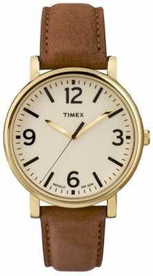 Timex Originals Unisex Brown Leather Watch T2P527