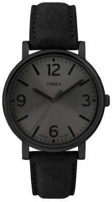 Timex Originals Black Leather Strap Watch T2P528