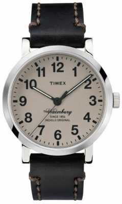 Timex Mens The Waterbury Black Leather Strap TW2P58800