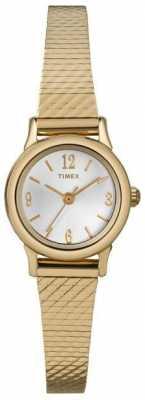 Timex Ladies Gold Plated Steel Bracelet Watch T2P300