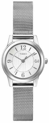 Timex Originals Ladies Silver Tone Mesh Watch T2P457