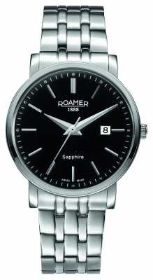 Roamer Mens Stainless Steel Black Dial 709856415570