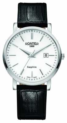 Roamer Mens Classic Line Black Leather Strap 709856412507