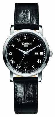 Roamer Womens Classic Line Black Leather Strap 709844415207