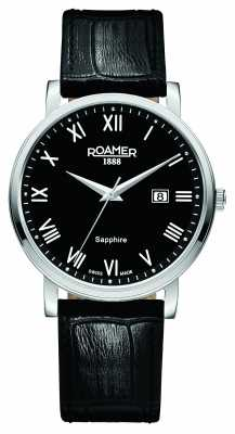 Roamer Mens Classic Line Black Leather Strap 709856415207