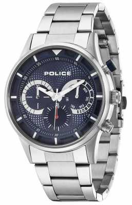 Police Mens Driver Stainless Steel Blue Dial 14383JS/03M