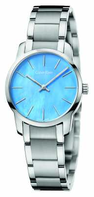 Calvin Klein Womens City Blue Mother Of Pearl Dial K2G2314X