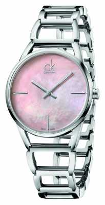 Calvin Klein Womens Stately Stainless Steel Pink Dial K3G2312E