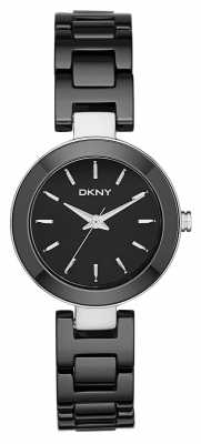 DKNY Womens Stanhope Black Ceramic NY2355