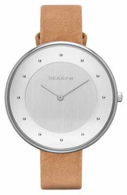 Skagen Womens Gitte Relaxed Brown Leather Strap SKW2326
