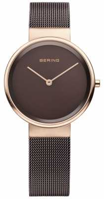 Bering Womens classic, Brown Dial, Rose Gold 14531-262