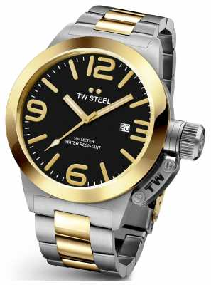 TW Steel Mens Canteen 45mm Two Tone Black Dial CB41
