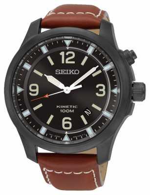 Seiko Mens Black IP 100m Date Strap SKA691P1