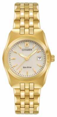 Citizen Womens Eco Drive Corso WR100 Gold Tone Bracelet EW2292-59P