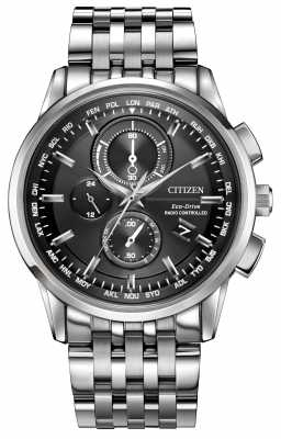 Citizen Mens World Chrono A-T Radio Controlled Stainless Steel AT8110-53E