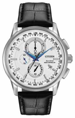 Citizen Eco-Drive World Chrono A-T Radio Controlled Leather AT8110-02A