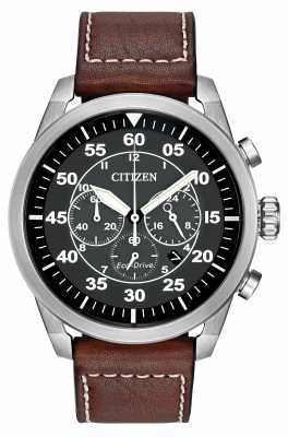 Citizen Avion Eco-Drive Brown Leather Strap CA4210-24E